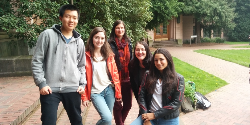 Left to right: Kuang Sheng, Christina Chappell, Murphy Stack, Nina Mesihovic, Reyna Marquez