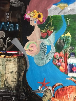 "Collage: ""H2O: What is it Worth?"" by Cindy Luc"
