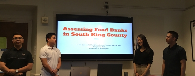 "Aldrin Carbonell, David Lee, Johnny Nguyen and Wendy Wei, ""South King County Foodbanks."""