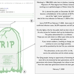 The decrypted monument: (A) a photo of the monument, (B) a code snippet used to create a contract class entitled Monument, and (C) a translation of the inscription.