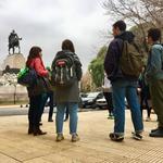 Students at Mitre's Monument in La Isla – Recoleta