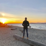 Photography of Student Henry James Campion Standing on the Beach at Alki in West Seattle