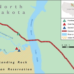 Sketch map of the Dakota Access Pipeline and the Standing Rock Reservation