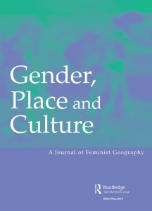 Gender, Place and Culture journal cover.