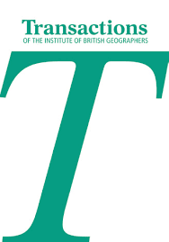 Transactions of the Institute of British Geographers journal cover.