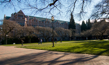 Smith Hall viewed from the Quad in winter