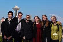 From left to right:  Jonathan Engelbert, Kory VanDyke, Travis Axe, Skye Naslund, Rebecca Stubbs, Olivia Hollenhorst