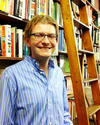 Luke Bergmann with Books