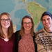 Geography Honors Students Kristen Hiatt, Stella Jones, and David Urbina