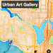 Map Image of Seattle with Stamen Watercolor Base Tiles